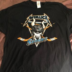 Metallica San Jose Sharks night T-shirt XL